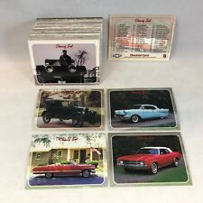 CHEVY SET (Collect-A-Card 1992) Complete 100 Card Set Classic CHEVROLET CARS
