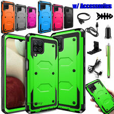 For Samsung Galaxy A12 Hybrid Shockproof Rugged Phone Case Cover / Accessories