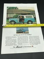 Vintage Magazine Print Ad 1966 International Harvester Scout