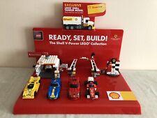 Lego Shell V-Power Ferrari Display Stand & 7 Lego Sets.