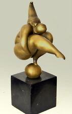 fait main bronzefigur-bronze nu signé Milo sur socle en marbre