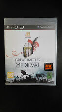 The History Channel Great Battles Medieval PS3 NUOVO EDIZIONE ITALIANA