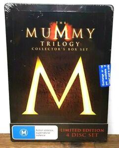 The Mummy Trilogy Collector's Box Set Steelbook Tin (DVD 4-Discs) BRAND NEW