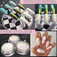 Unicorn Nail Art Glitter Pixel Effect Mermaid Iridescent Sparkle Cinderella Size