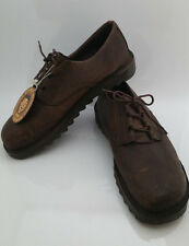 NEW MOZO OXFORD BROWN NUBUCK LEATHER SHOES MENS 12.5 LACE UP COMFORT