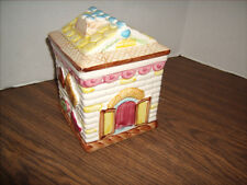 """Cookie Jar Cookie Candy House Japan - Great Shape - Small Size 6"""" Tall"""