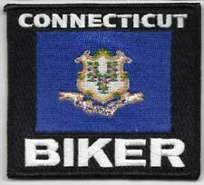 CONNECTICUT STATE FLAG EMBROIDERED BIKER PATCH