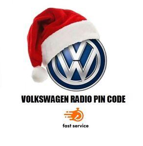 VW Volkswagen Radio Code Unlock Decode PIN Volkswagen Radio Code