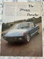 Vintage Print Ad - 1974 Porsche 914 - Free Shipping