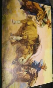 Vintage TUCO Miniature Jigsaw Puzzle Tripl-thick Hissing Hondo's 30 Pieces
