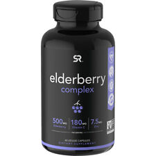 Sports Research Elderberry Complex Dietary Supplement - 60 Capsules