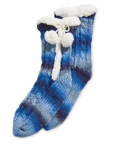 NEW Stripe Ladies' Boot Socks (Size: 4-8) Colours: Blue / Grey / Purple