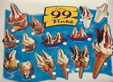 ICE CREAM STICKERS SOFT FLAKE TWIN CONE SCREWBALL TRAILER VAN CAFE SHOP new
