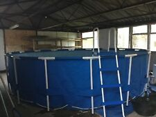 """INTEX Above Ground SWIMMING POOL 16' x 4' (48"""") round excellent condition"""