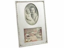 Sterling Silver Double Photograph Frame - Antique George V (1913)