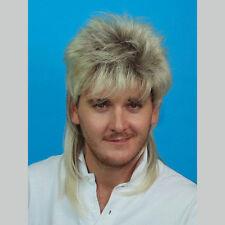 Mullet Wig Two Tone Blonde & Brown 70's 80's Bogan Men's Fancy Dress Costume Wig