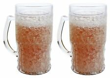 Double Coffee Cups Mugs Wall Gel Frosty Freezer Mugs Large 22oz, Set of Two, New