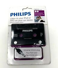 Philips Mp3/Cd Cassette Adapter 3.5mm Plug Listen To Ipod Mp3 In Your Car New