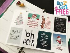PP169 -- Winter Inspirational Quotes Planner Stickers for Erin Condren (8pcs)