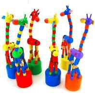 Rocking Giraffe Random KidsStanding Wooden Wire Control Animal Educational toys