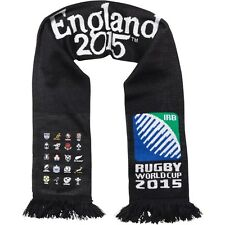 Rugby World Cup 2015 20 Nations England Scipt Scarf Black Brand New With Tags