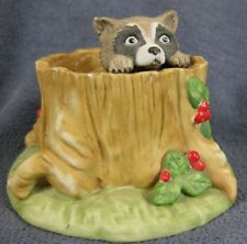 Woodland Surprises Raccoon Franklin Mint Hand Painted Porcelain Figurine 1984