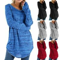 Women Long Sleeve Jumper Shirt Tops Loose Tunic Blouse Casual Pullover Plus