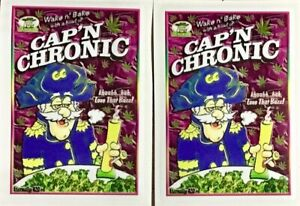 WEED  420  MARIJUANA SMOKE GONJA  RAT FINK  CAPTAIN CRUNCH POT  FUNNY    2-PACK