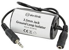 New AV 3.5mm Jack Ground Loop Isolator Audio Noise Filter Unwanted Hum Inductor
