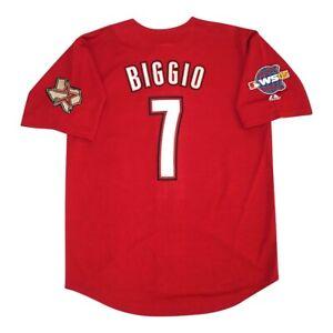 Craig Biggio Houston Astros Alt Brick Red 2005 World Series Jersey Men's Medium