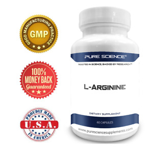 Pure Science L-Arginine 1340mg with Nitric Oxide & L-Citrulline - 60 Capsules