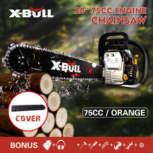 "X-BULL 75cc Petrol Chainsaw 20""Bar Commercial Chain Saw E-Start Tree Pruning"