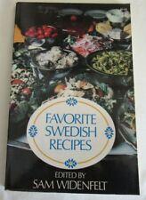FAVORITE SWEDISH RECIPES by Sam Widenfelt, 1975, Vintage Cookbook, Smorgasbord
