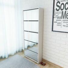 vidaXL Shoe Cabinet 5-Layer Mirror White 63x17x169.5cm Storage Rack Organiser