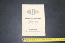 GILERA 500 Saturno libretto manutenzione Manuale/Istruzioni/Instructions Book