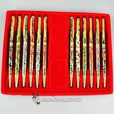 Wholesale12pcs Chinese Handmade vintage Dragon Enamel Cloisonne Ballpoint Pen