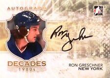 10-11 itg decades 80s ron greschner new york rangers autograph auto
