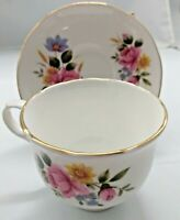 Sadler Bone China Cup & Saucer set  - Wellington - Pink Rose - Rare