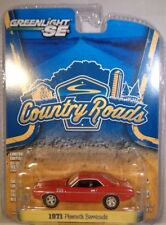 RED 1971 PLYMOUTH BARRACUDA GREENLIGHT 1:64 SCALE DIECAST METAL MODEL CAR