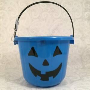 LIGHT UP Blow Mold Plastic Pumpkin Treat Candy Bucket Pail Bucket Party Autism