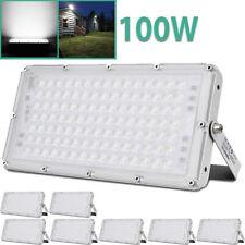 100W 5Pcs Cool White LED SMD Flood Lights Ultra-thin Outdoor Garden Lamp 240V