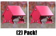 (2) ea Woodlink 7458 Audobon Mini Absolute Ii Squirrel Proof Hanging Bird Feeder