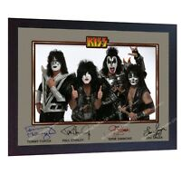 Kiss American rock band music signed autograph photo print poster KISS Framed