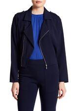 LAUNDRY Shelli Segal Asymmetrical Front Zip Women Jacket Majestic Blue Sz. 6 NWT