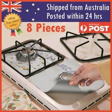 Reusable Non-stick Foil Gas Range Stove top Burner Protector Liner Cover 8PCS