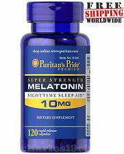 Puritan's Pride Melatonin 10 mg Night Time Sleep Aid 120 Capsule - USA Made