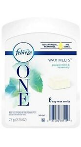 Febreze One Peppermint Rosemary Scented Wax Melts Essential Oils Air Freshener
