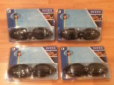 New listing 4 pairs of Intex Swim Goggles Ages 8+. Black Polycarbonate Uv Protection
