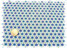 Hilde-Fleur  Popeline Blumen weiß blau 50 cm Patchwork Nähen Blumenstoff Stoff