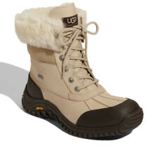 NEW UGG Womens Adirondack II Waterproof Leather/Suede Lace-Up Boot US 7/38 Sand